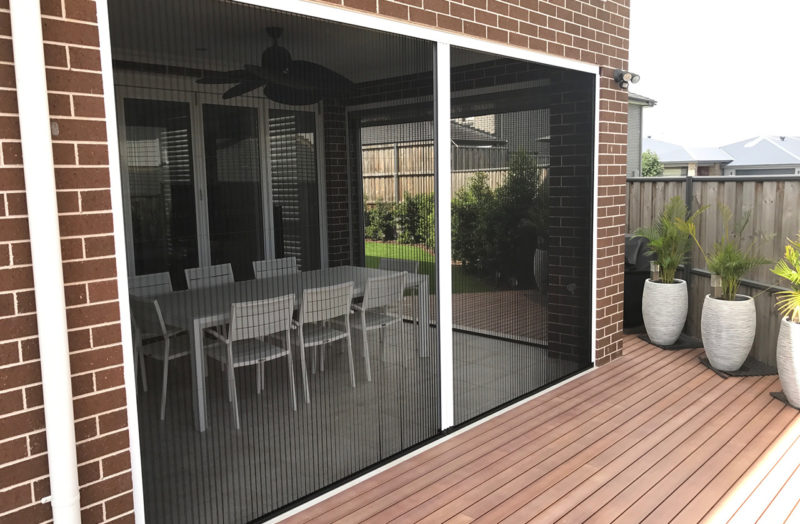 Retractable And Pleated Fly Screens
