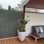 Aluminium Slat Screens Woodland Grey